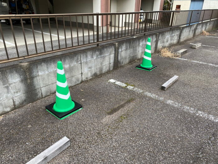 のびのび商店の駐車場
